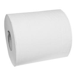 Håndklæderulle 1-lags m/hylse 60mm uperforeret 300m hvid Neutral
