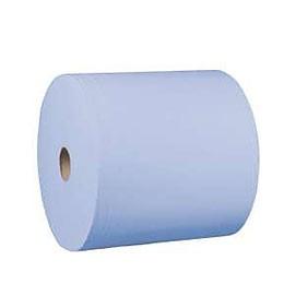 Værkstedsrulle 3-lags hylse 70mm perforeret blå 37cmx380m